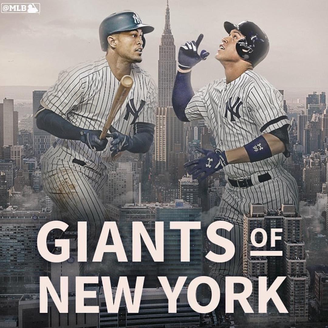 Giancarlo Stanton And Aaron Judge New York Yankees Baseball New York Giants Go Yankees