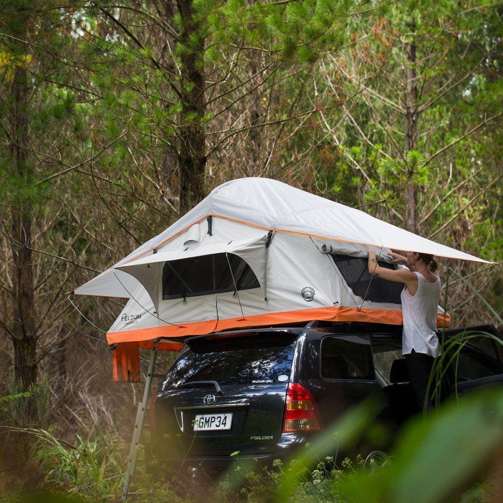 The Crow's Nest 2Man Rooftop Tent Orange Roof top
