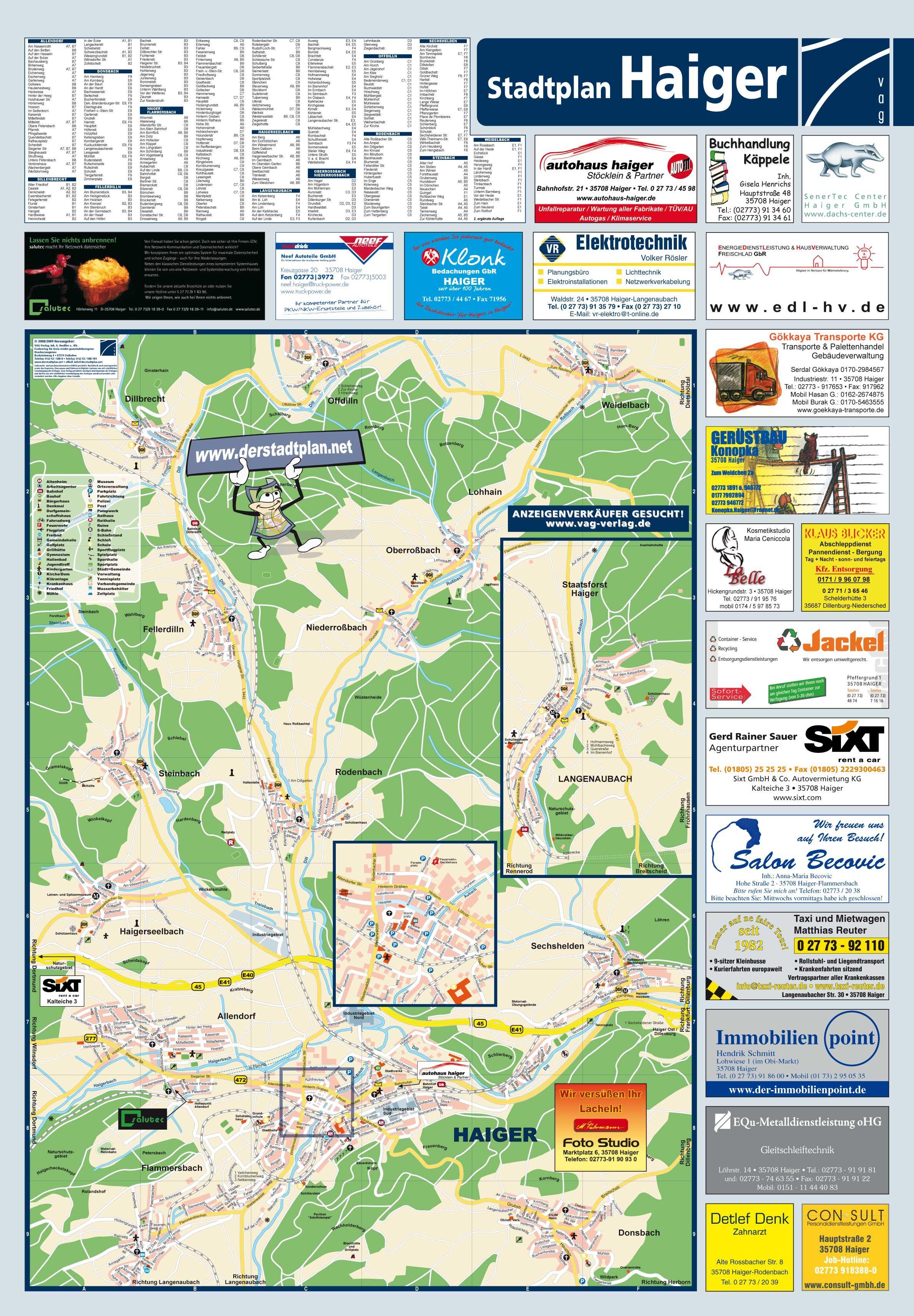 haiger tourist map see map details from wwwagentur graebde