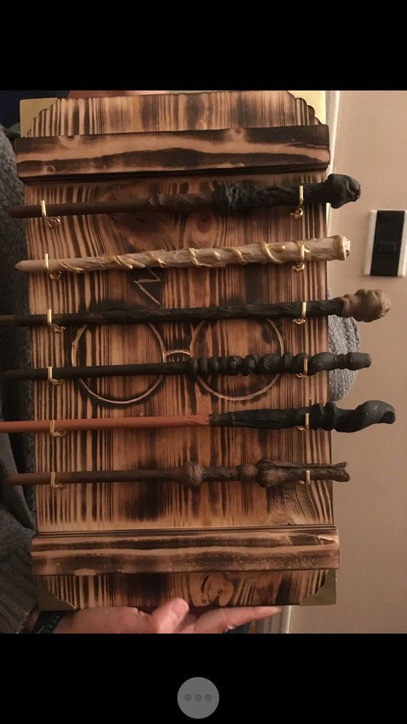 Wand Display Rack By Rusticrevelation On Etsy Harry Potter Decor