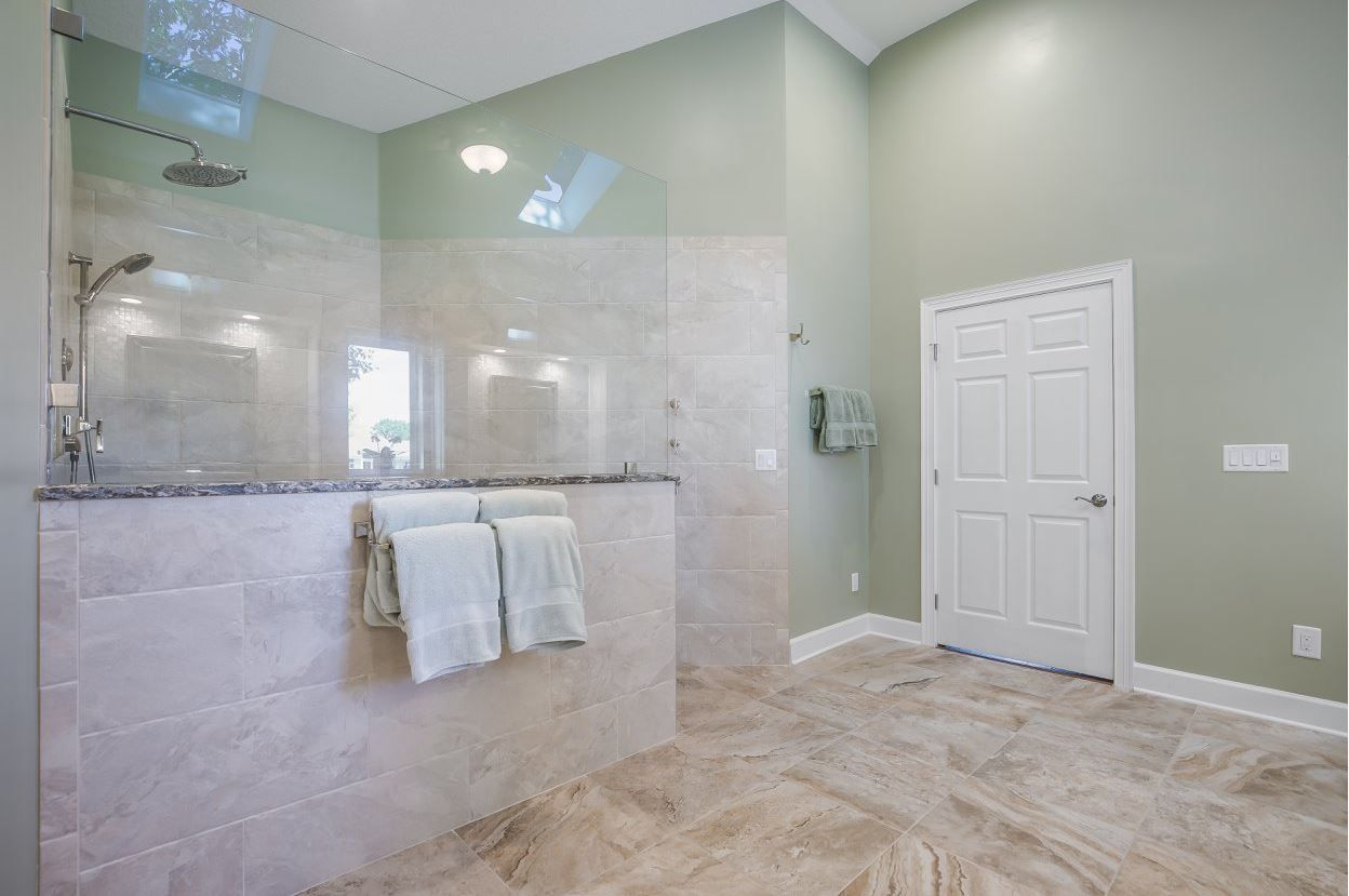 Walk In Shower Zero Entry Shower Bathrooms Remodel Bathroom