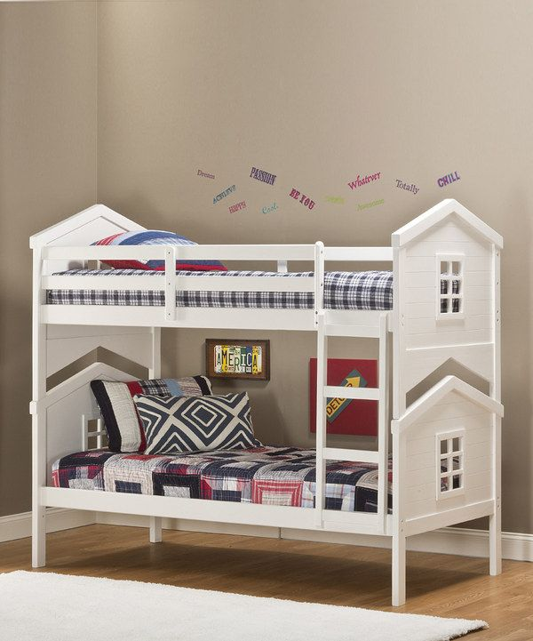 This White Hillsdale House Bunk Bed By Hillsdale Furniture Is Perfect!  #zulilyfinds