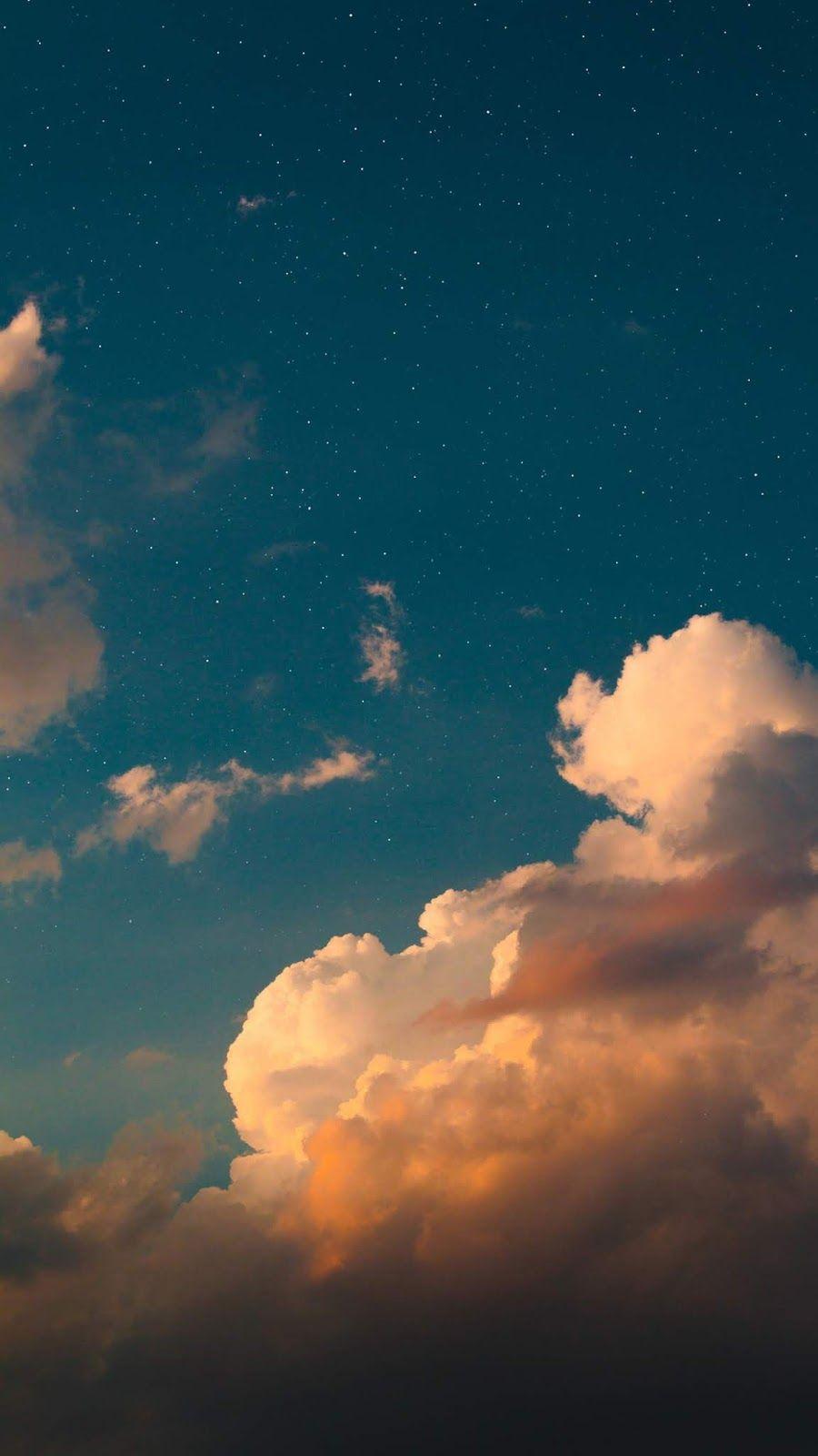 Clouds In The Blue Sky Blue Sky Wallpaper Sky Aesthetic Blue Sky Clouds