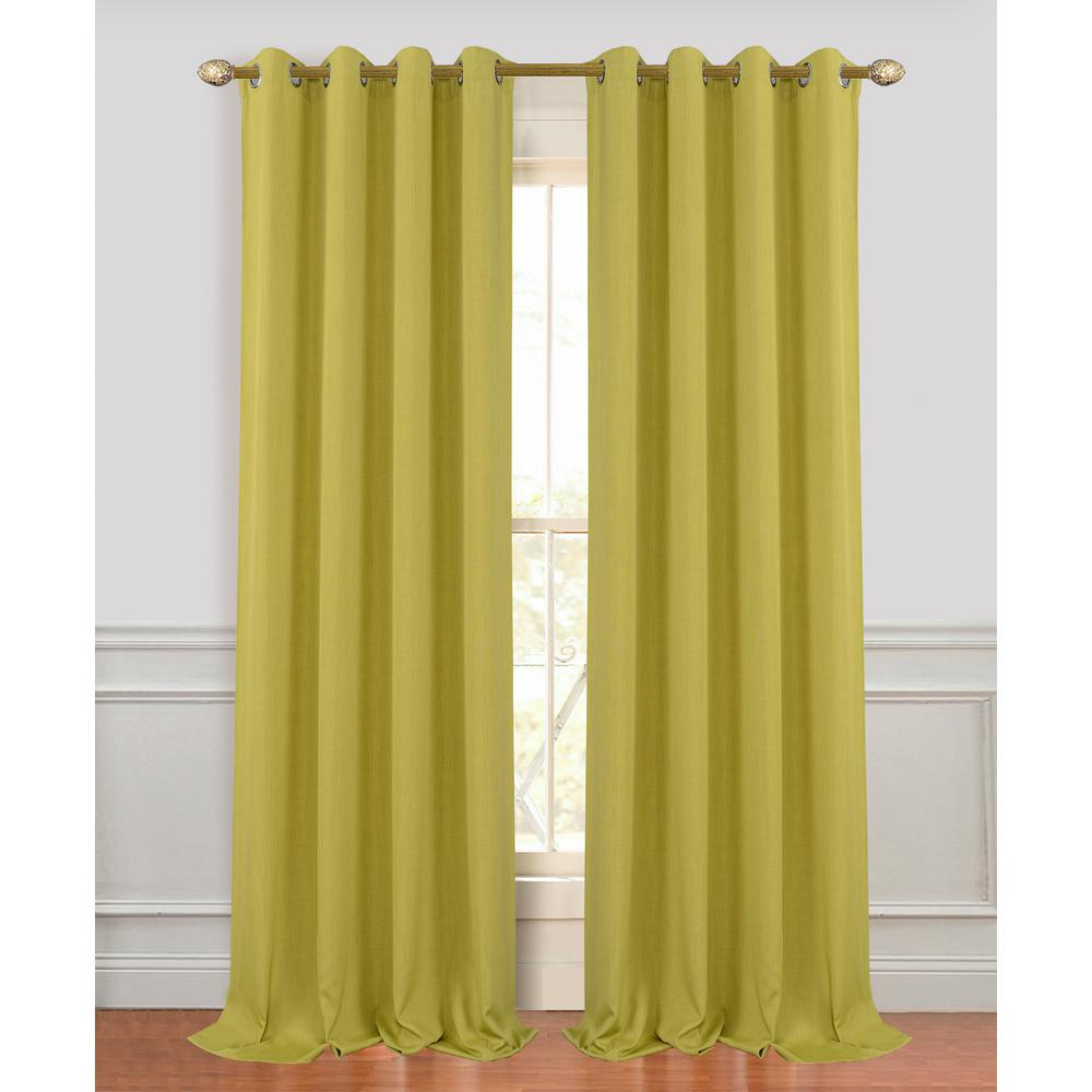 Dainty Home Madison 96 In Sage Green Polyester Extra Long And