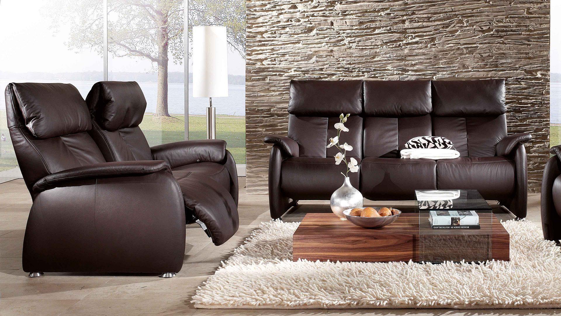 zweisitzer und dreisitzer aus leder von himolla polsterwelt i gem tlich zu hause. Black Bedroom Furniture Sets. Home Design Ideas