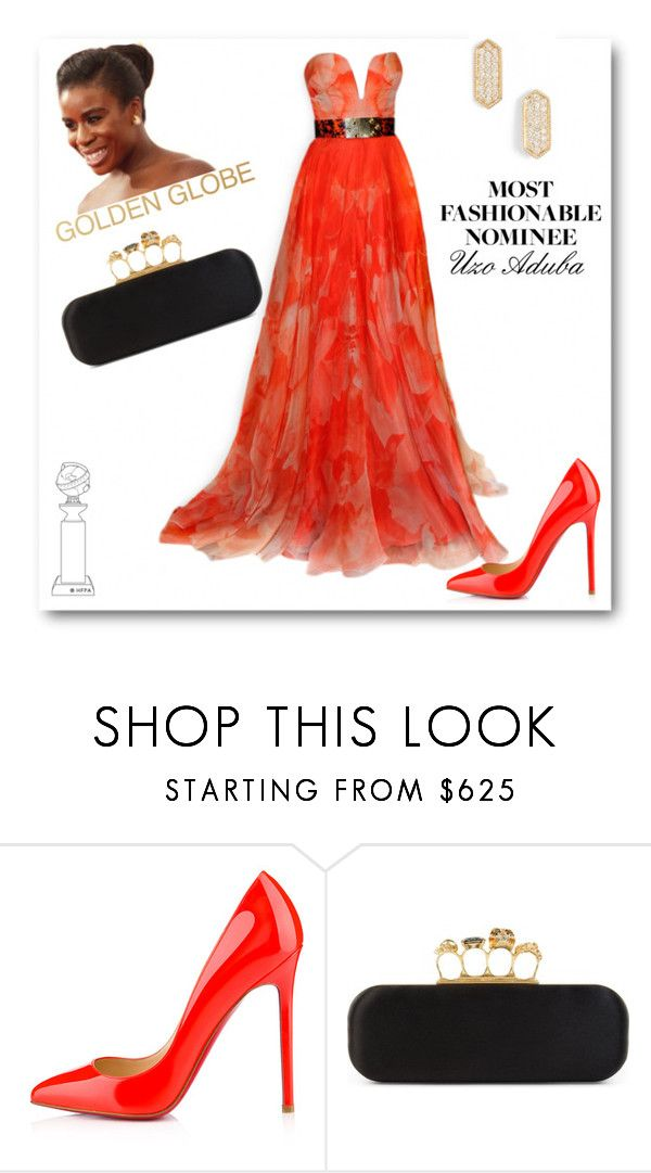 """""""Golden Globe Nominee: Uzo Aduba"""" by katrina259 ❤ liked on Polyvore featuring Alexander McQueen, Christian Louboutin, Dana Rebecca Designs, GoldenGlobes, AlexanderMcQueen, christianlouboutin, bestdressed and Nominee"""