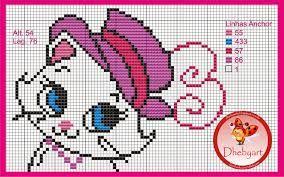 Resultado de imagem para grafico gatinha marie ponto cruz