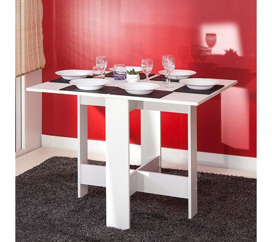 table de cuisine pliable leane blanc de cuisine table et tables de cuisine. Black Bedroom Furniture Sets. Home Design Ideas