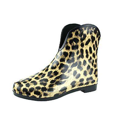 kvinners sko regn boot flat hæl ankelstøvletter flere tilgjengelige farger – NOK kr. 240