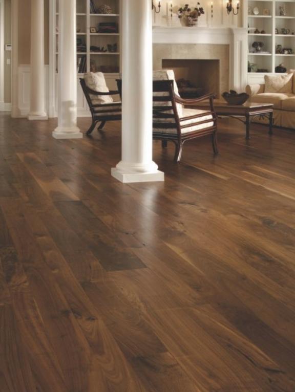 Walnut Flooring In A Living Room Carlisle Wide Plank Floors Wood Floors Wide Plank Living Room Wood Floor Walnut Wood Floors