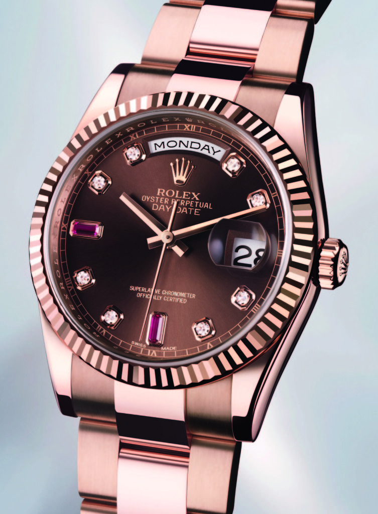 dd4702aa456 Rose Rolex with chocolate dial. Stunning.