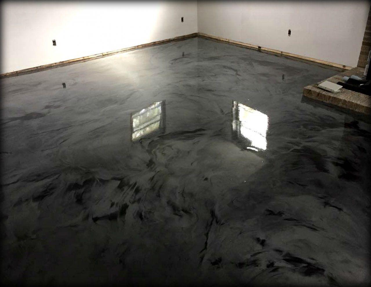 Black Marble Epoxy Flooring Ocean City Maryland Epoxy Floor