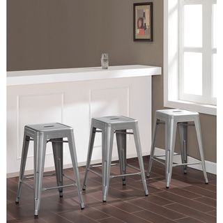 Tabouret 24 Inch Metal Counter Stools Set Of 2 With Bonus Stool