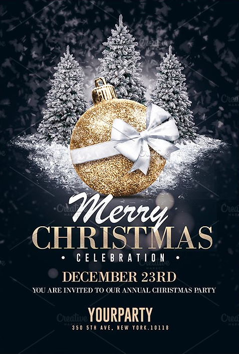 Christmas Flyers.Christmas Invitation Psd Templates Christmas Flyer