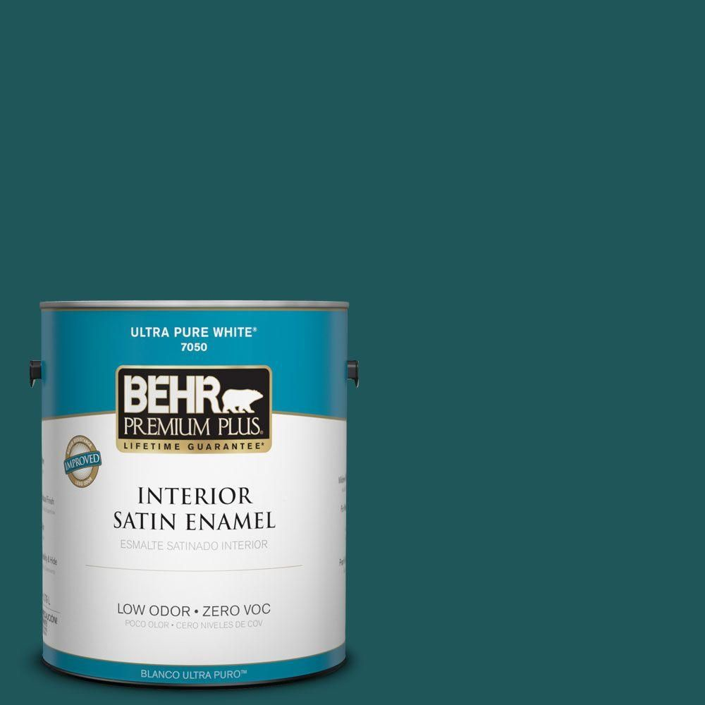 High Quality #PPF 56 Terrace Teal Satin Enamel Zero VOC Interior Paint And Primer In  One 730001   The Home Depot