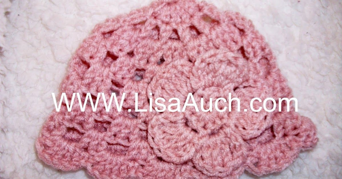 Quick Easy Crochet Baby Hat Free Shell Pattern Crochet Baby Hats