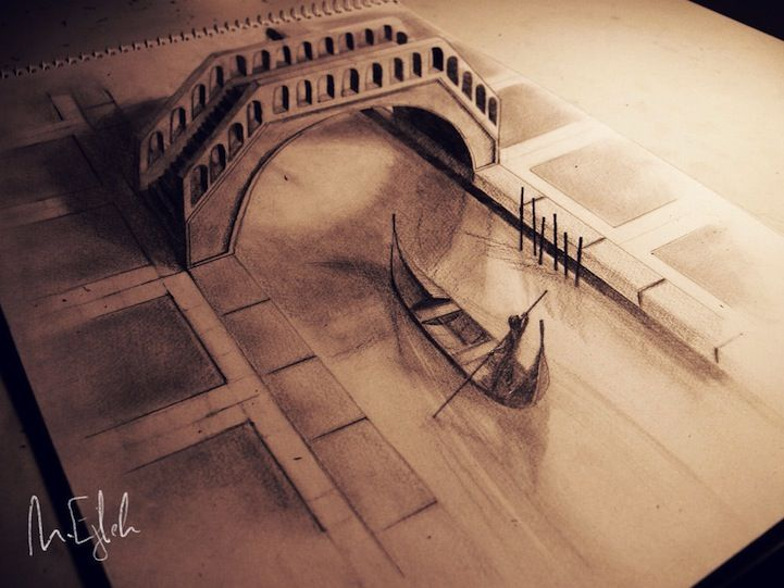 Amazing 3d pencil drawings pop out of the page