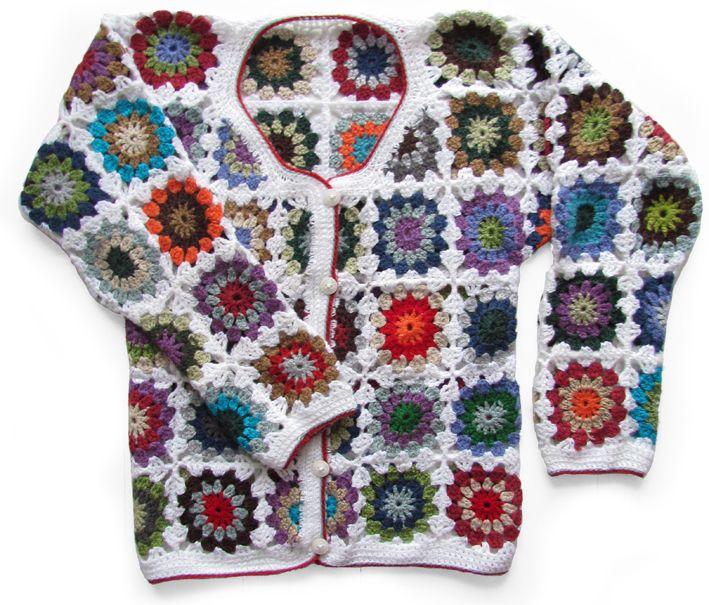 Free Crochet Granny Square Vest Patterns : granny square, vierkantjes, crochet, haken, hakeln, vest ...