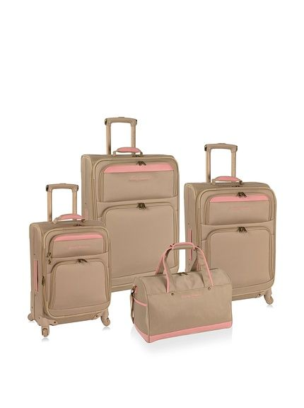 Tommy Bahama Bahama Mama 4-Piece Luggage Set, Champagne/Pink at ...