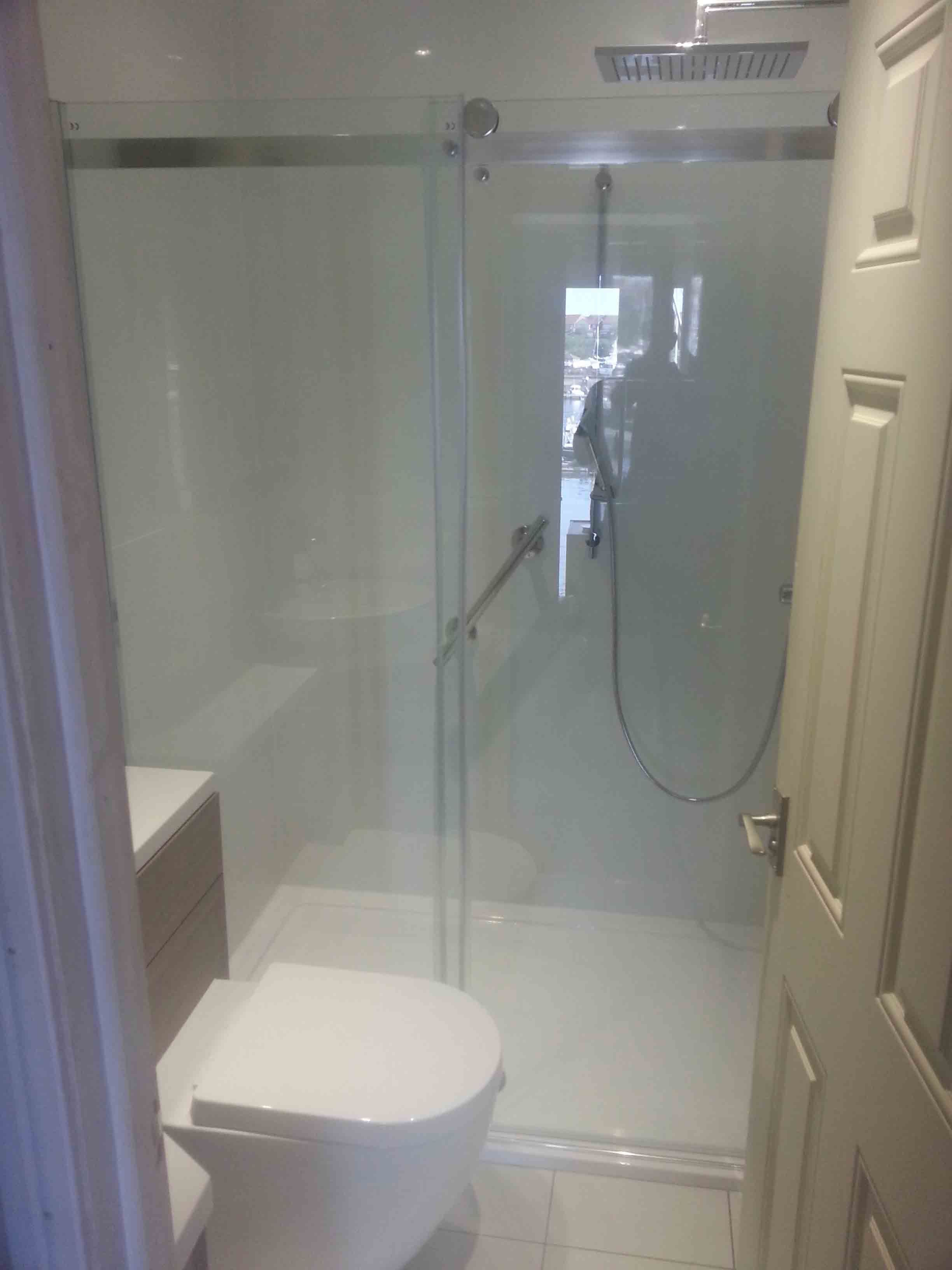 Bespoke Small Bathroom Shower Master Suite Reno Inspiration - Glass block showers small bathrooms for bathroom decor ideas