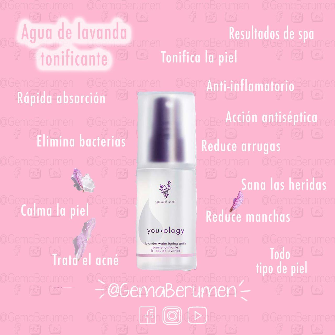 Tonico Agua De Lavanda Younique Toners Shampoo Bottle