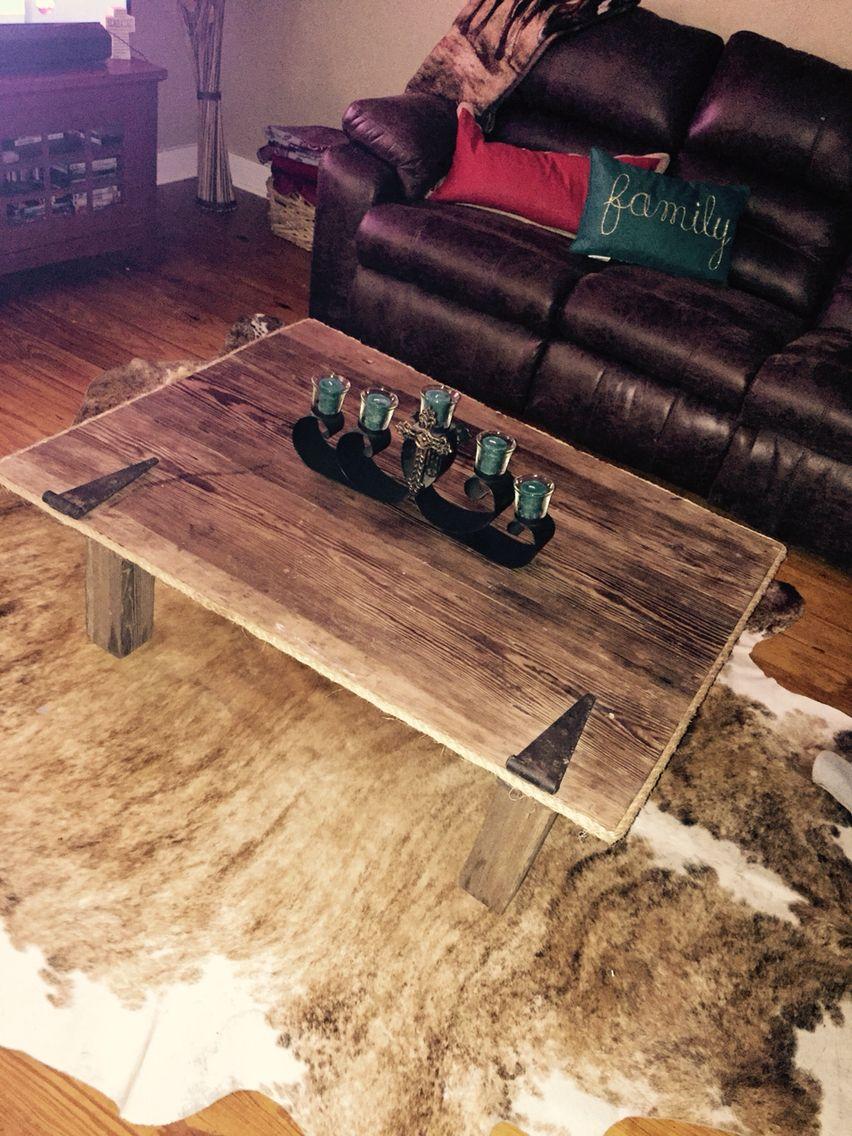 Rustic Barn wood door coffee table