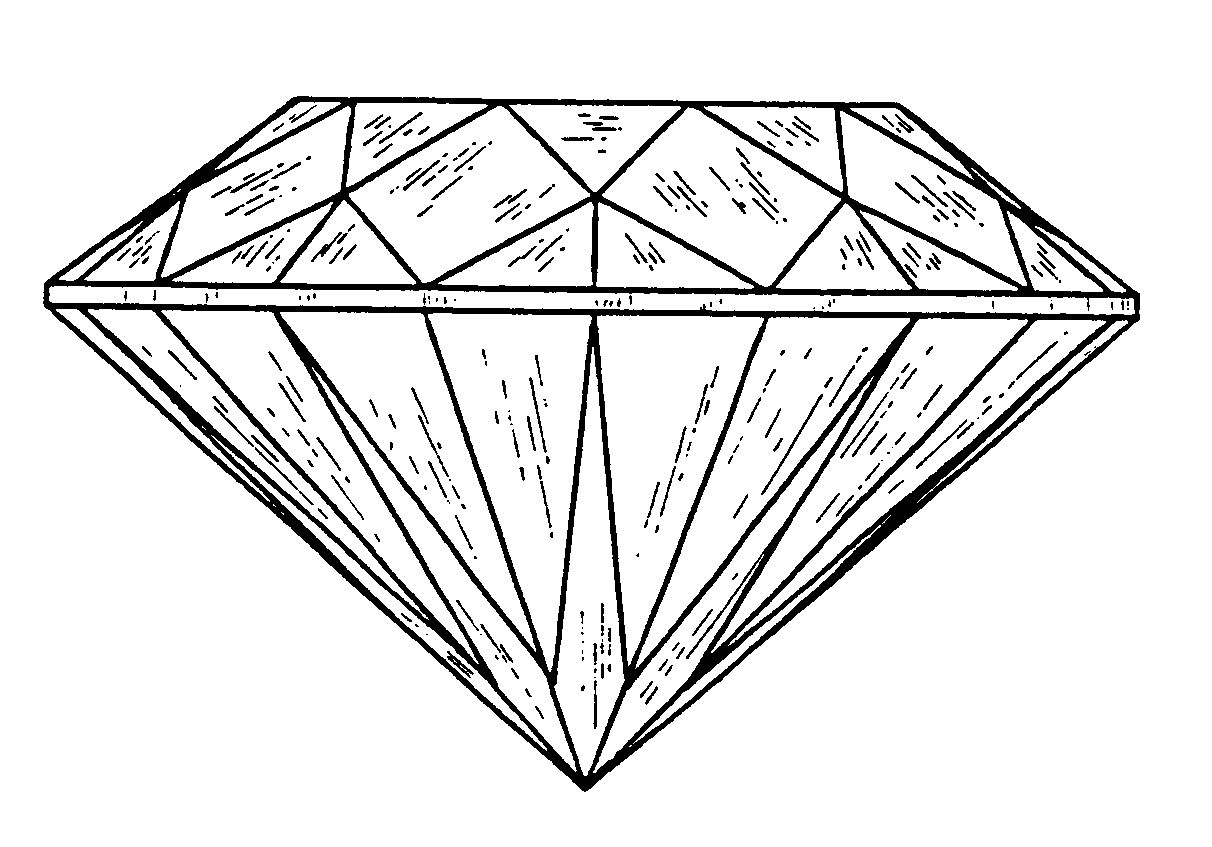 diamond garden Diamond drawing, Shape coloring pages