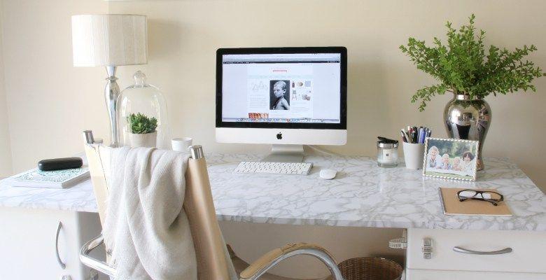 Diy Marble Desk House Of Hawkes Easy Diy Room Decor Marble Desk Diy Room Decor