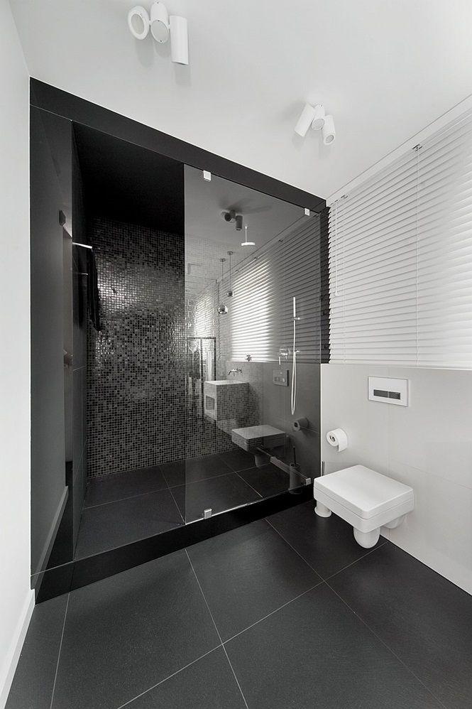 Ideias Para Banheiro Preto E Branco : Banheiros preto e branco decorados fotos lindas