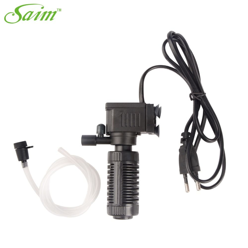 220v Fish Tank Air Pump Small Mini Electric Submersible Quiet Multifunctional External Aquarium Filter Water Pump High Pr Aquarium Filter Water Pumps Fish Tank