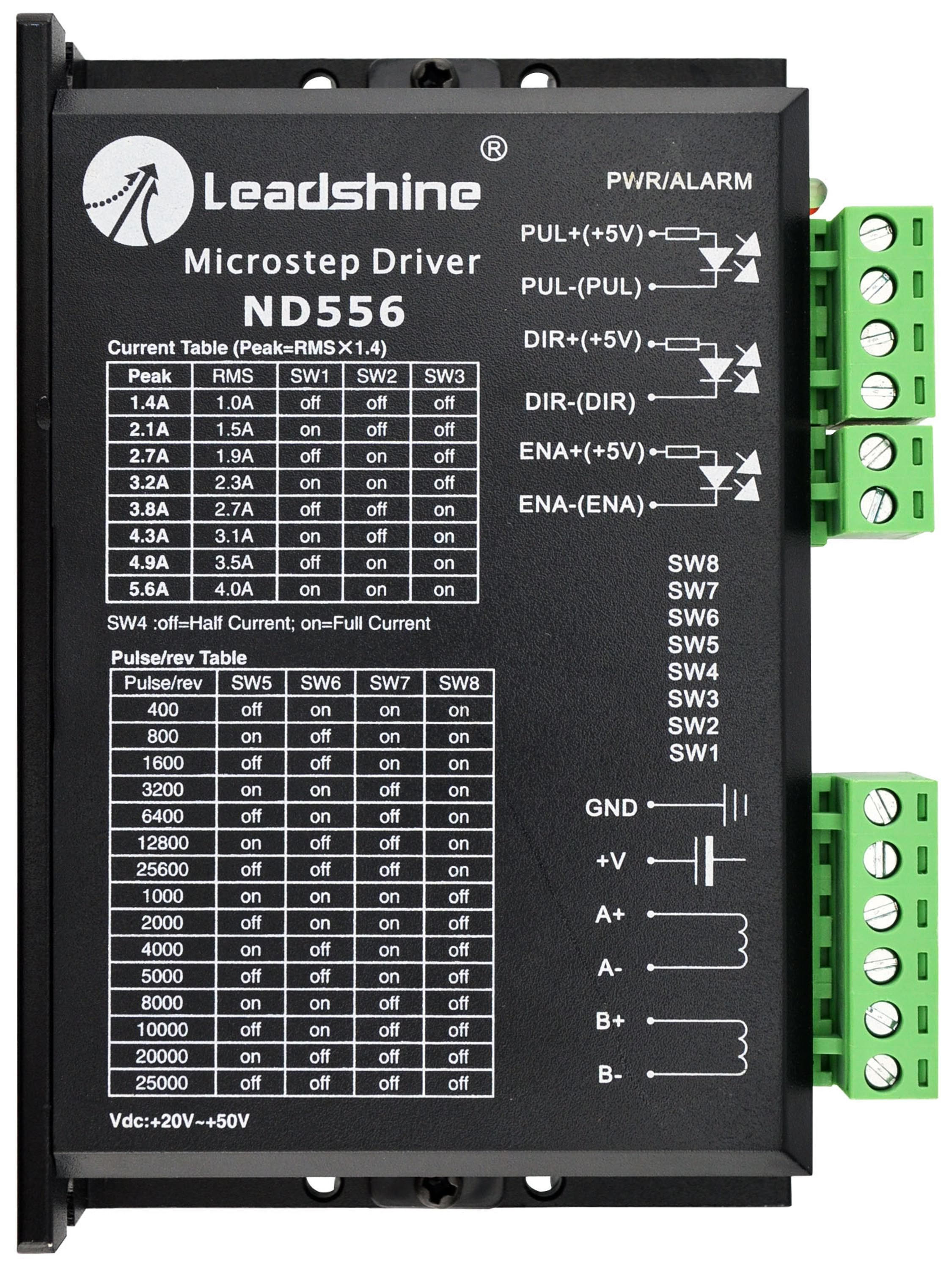 Leadshine ND556 Microstepping Driver 20~50VDC with 1 4~5 6A