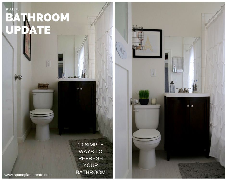Bathroom Update Before After Simple Ways To Refresh Your - Simple bathroom updates