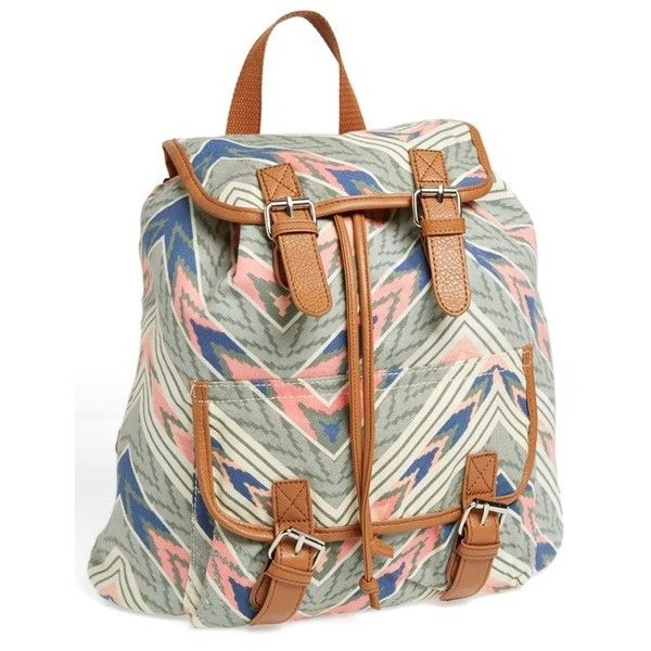 071d548f5f63 Amici Accessories Canvas   Crochet Backpack (Juniors) (Online Only)...  ( 19) ❤ liked on Polyvore