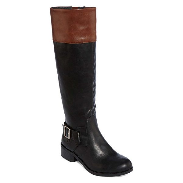 f9415dd8c4e Arizona Dylan Two-Tone Womens Riding Boots - JCPenney