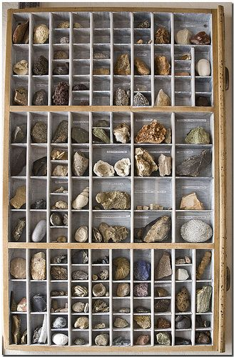 I would love to eventually fill up a type case such as this with specimens of a lot of pretty mineral and gemstone specimens.  (If anyone knows of good places to obtain either of these, please let me know!)     :)