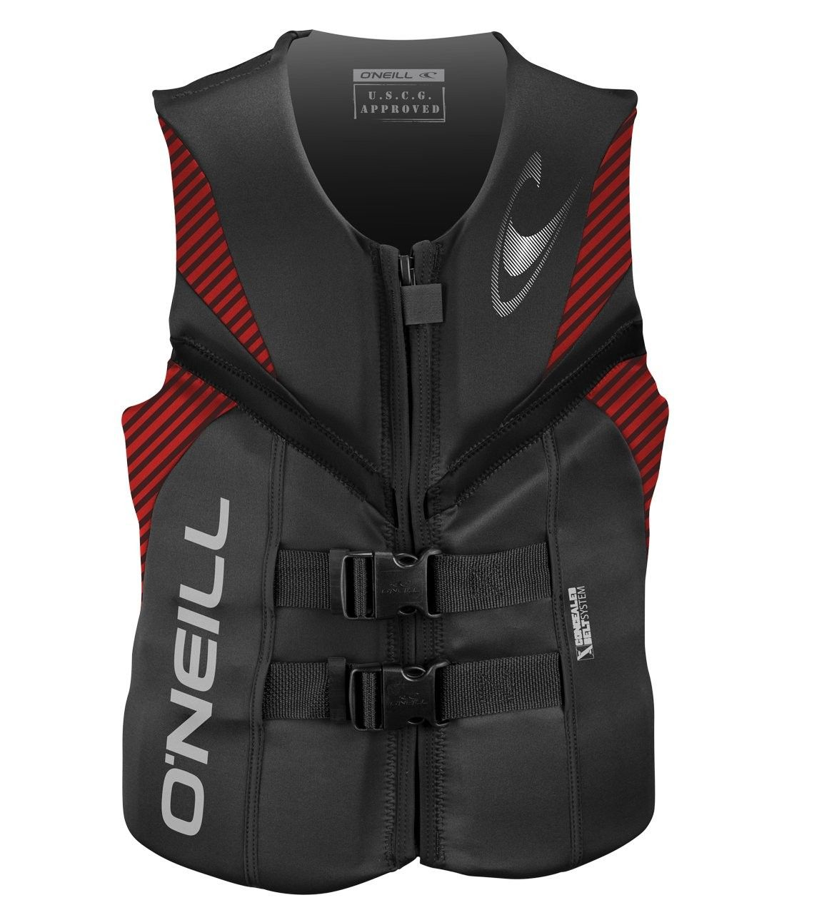 Men S Reactor Uscg Life Vest Graphite Red Black Cz125kpreh3 Size 3x Large Life Vest Life Vests Wakeboarding