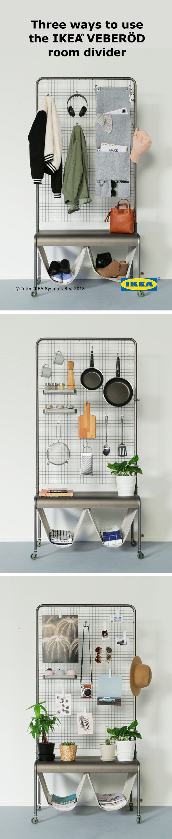 VeberÖd room divider natural kitchen renovations pinterest