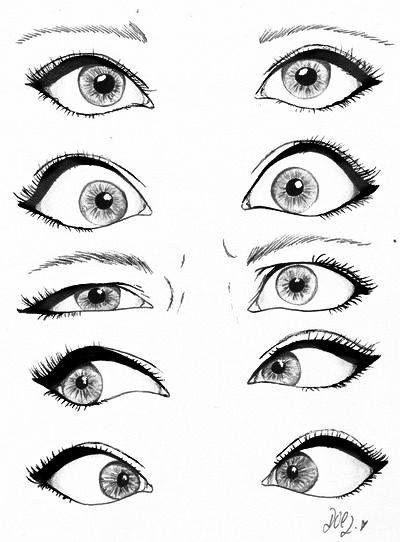 Posições De Olhos Ideias Esboço Desenhar Lábios Produção
