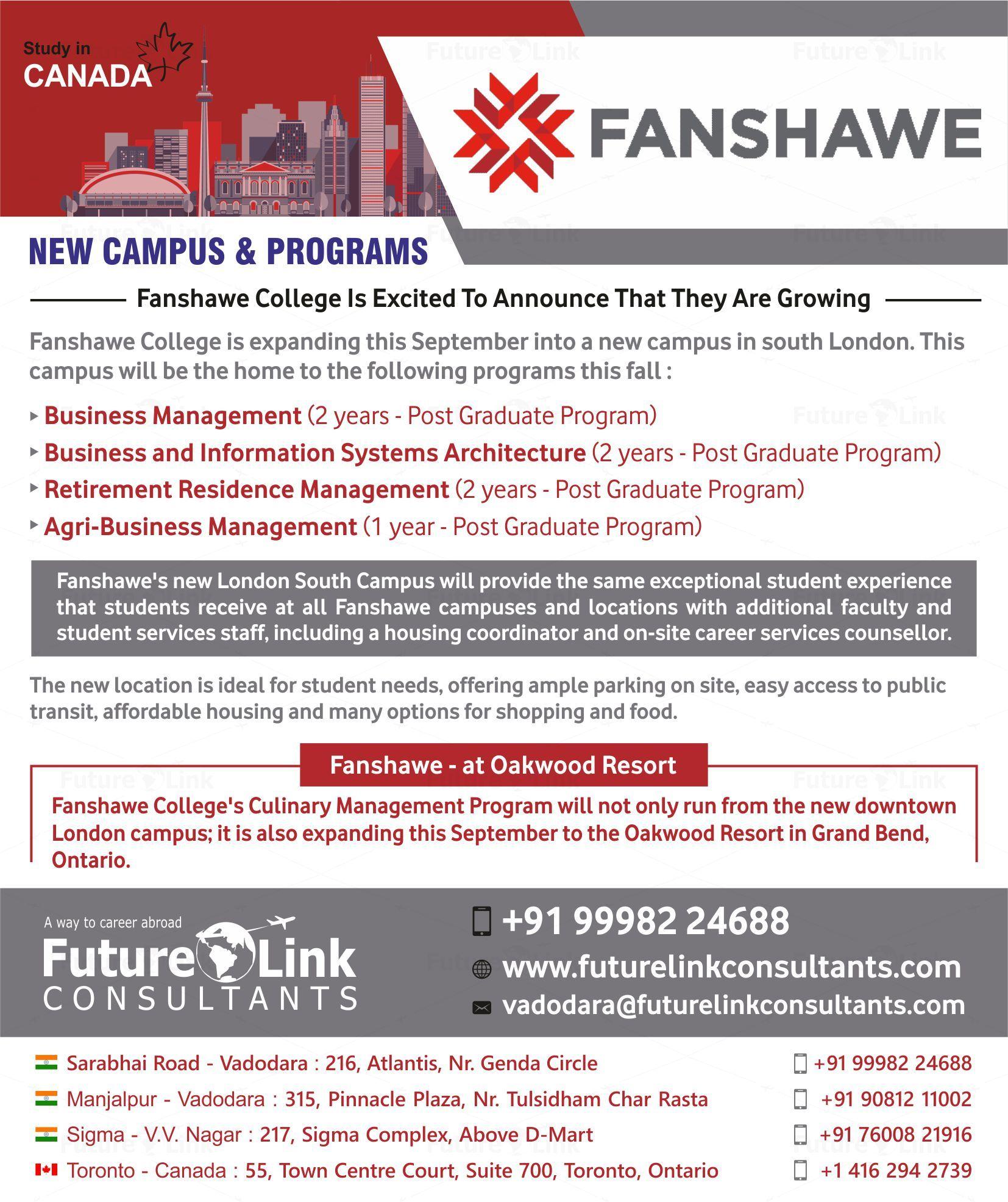 Fanshawe College Canada Graduate Program Canada Business Management