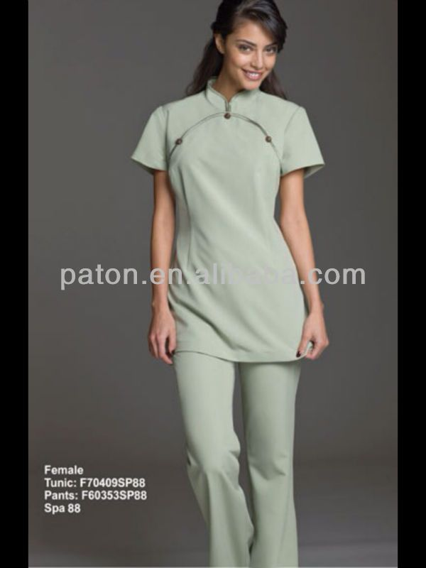 New design spa uniform buy spa uniform workwear hotel for Spa uniform female