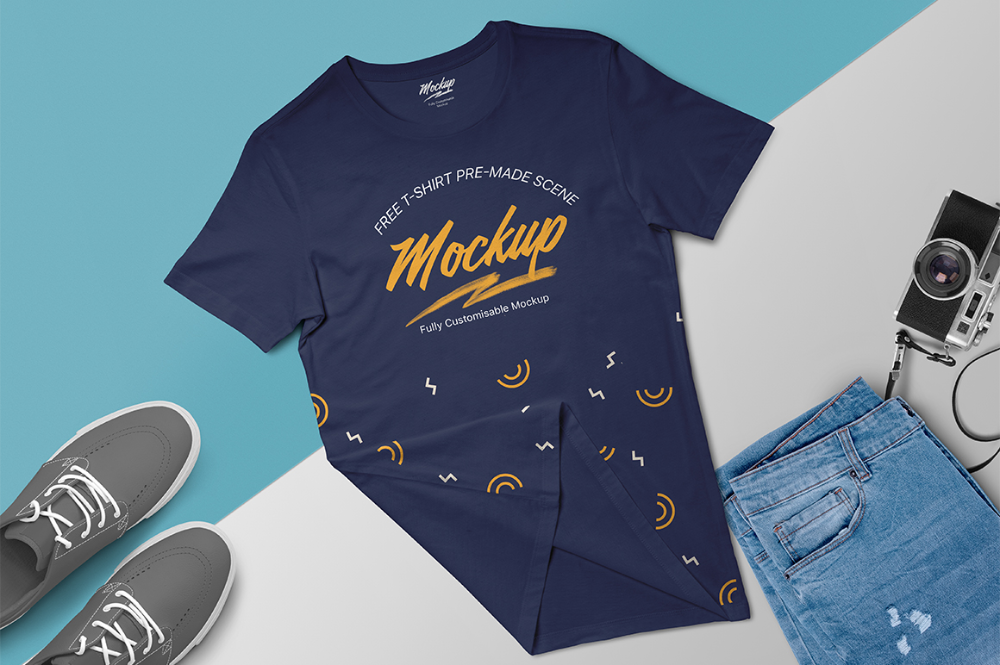Free T Shirt Mockup Scene Free Apparel Mockups Pixelify Net Shirt Mockup Tshirt Mockup Clothing Mockup