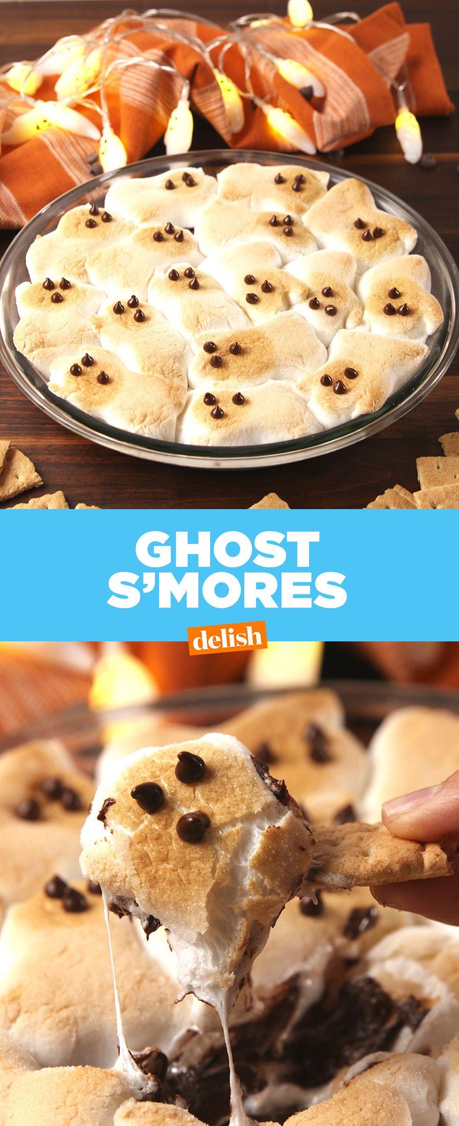 ghost s'mores dip | recipe | halloween recipes | pinterest