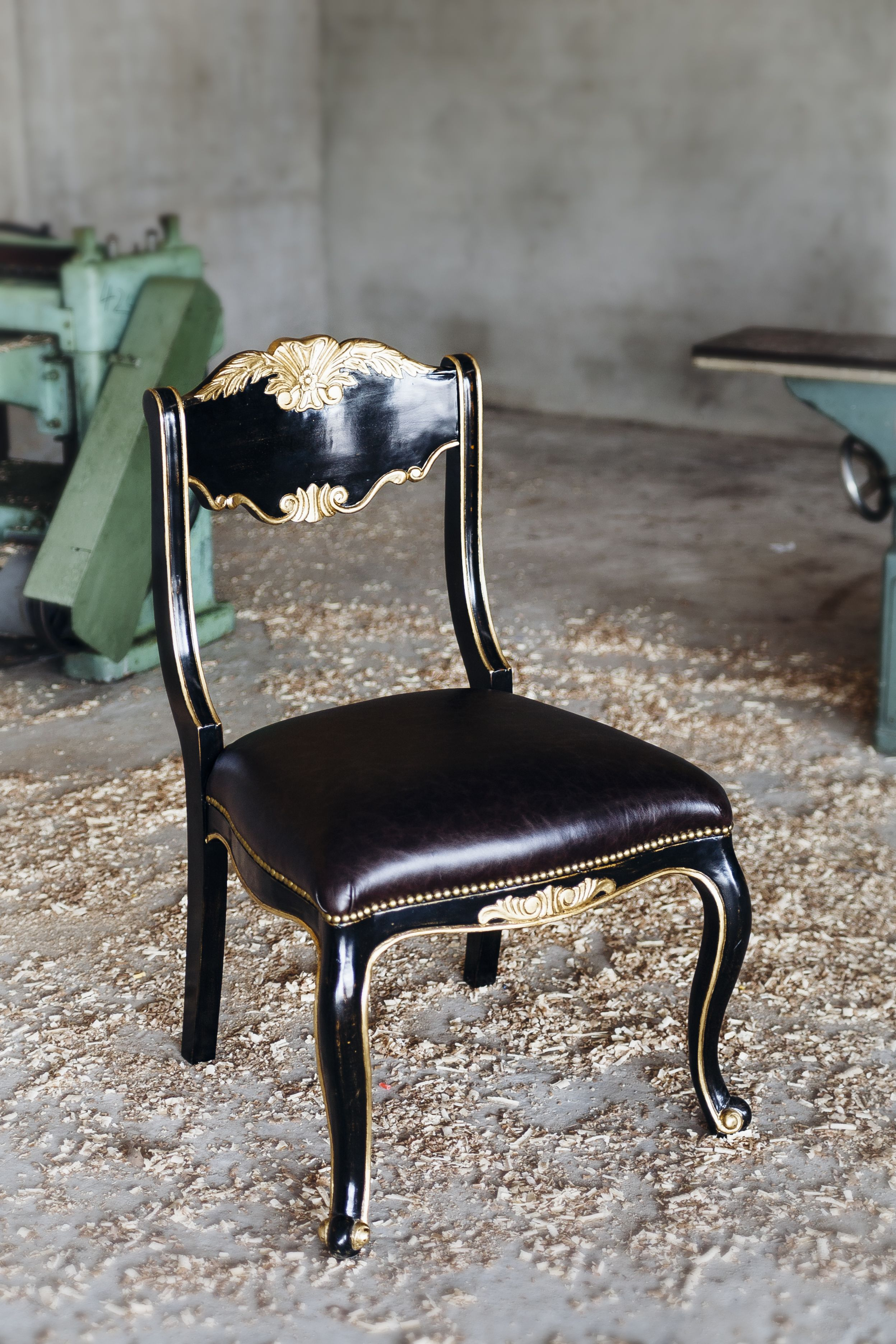 Brilliant Antique French Style Black Chair With Gold Trim And Genuine Squirreltailoven Fun Painted Chair Ideas Images Squirreltailovenorg