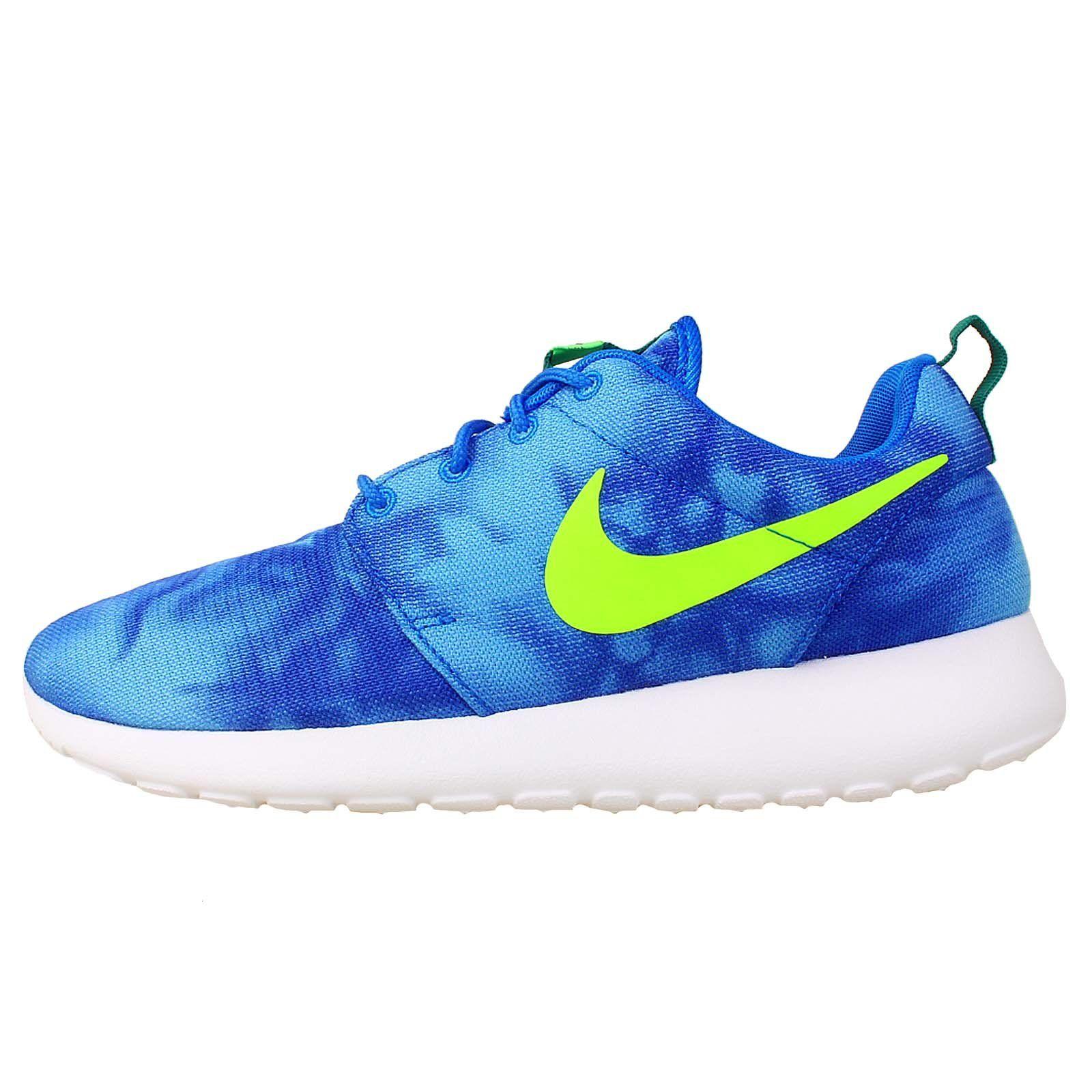 1808b956104a Nike Roshe Run Print - Photo Blue   Electric Green-Mystic Green