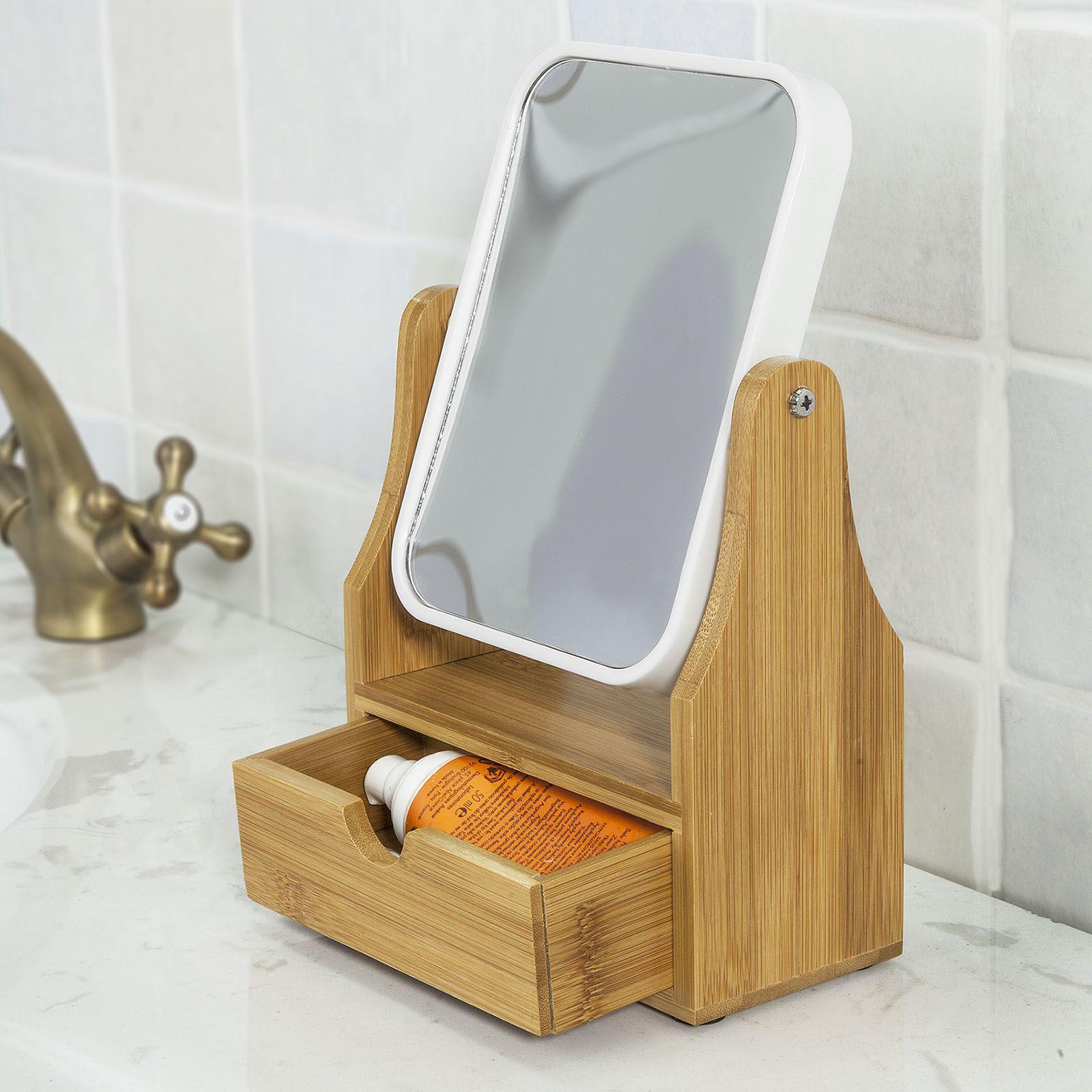 Sobuy Bianco Specchio Mobile Bagno Con Specchio Mensola Bagno
