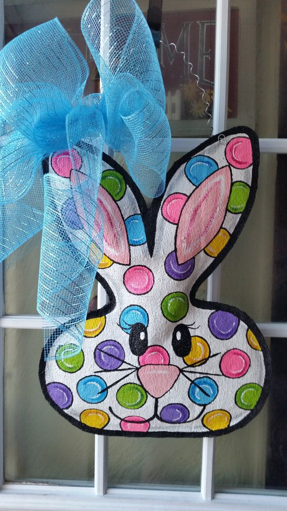 Easter door hanger, Easter wreath, Easter decorations ...