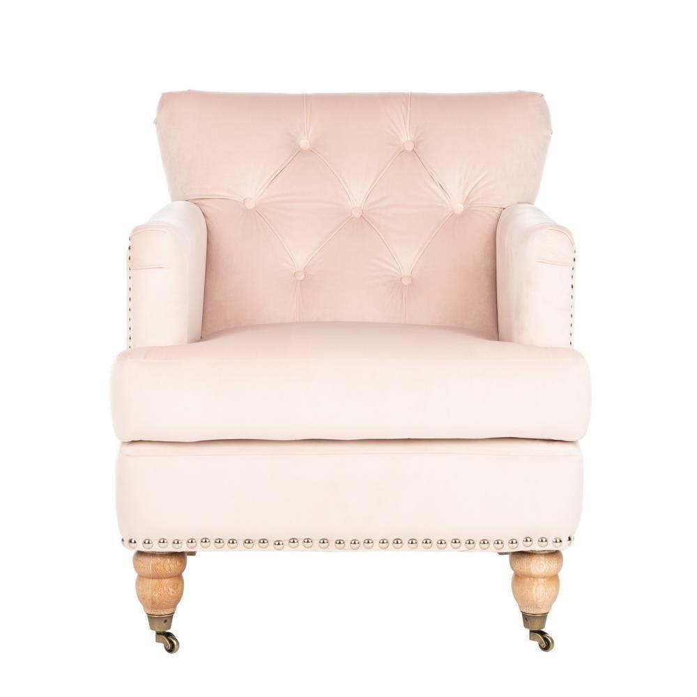 Best Safavieh Colin Blush Pink White Wash Accent Chair Club 400 x 300