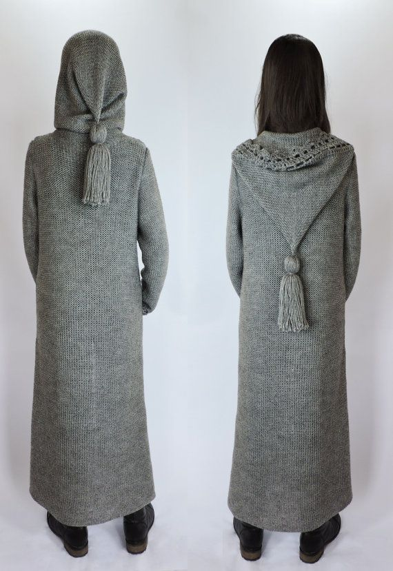 FREE SHIPPING Hooded cardigan Duster coat Extra by IrensKnitting ...