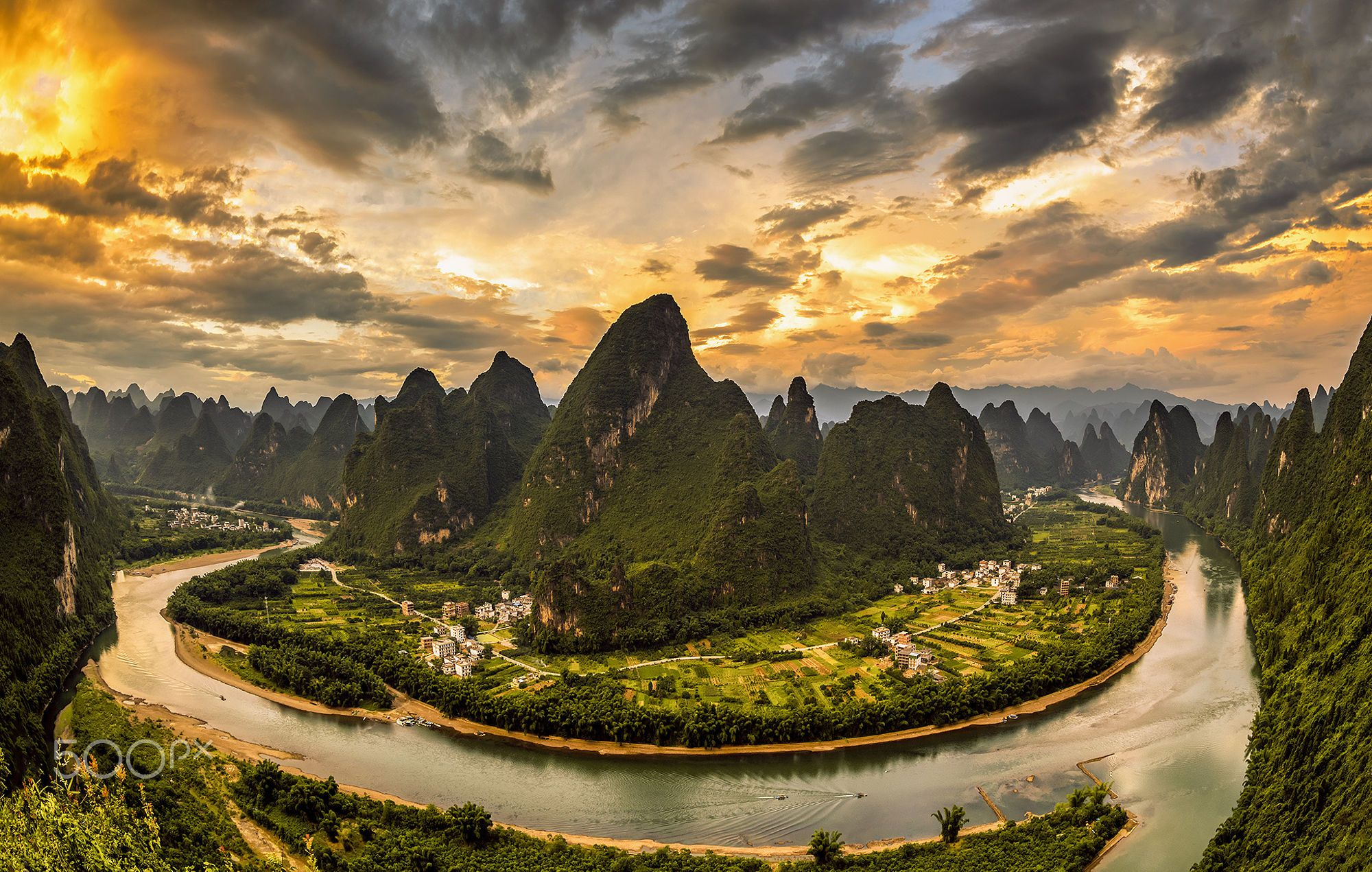 Landscape of Guilin Li River and Karst