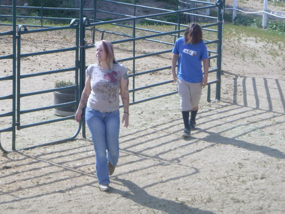 One of our last days.....Sage and I gathering mares